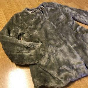 Gap faux fur jacket size XS